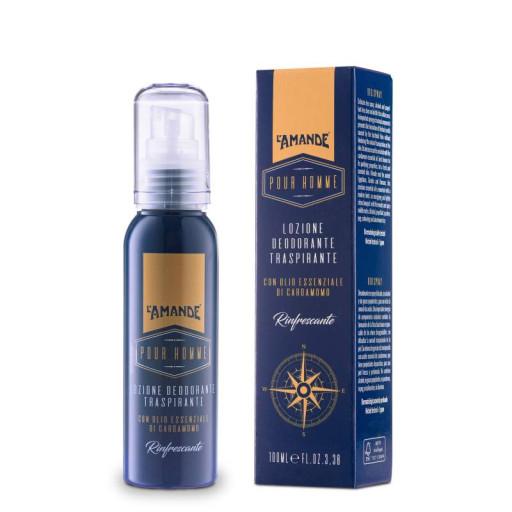 L'AMANDE - Lozione Deodorante Traspirante - Linea Pour Homme - 100ml