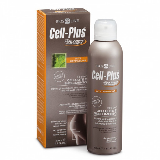 BIOS LINE  - Spray Cellulite e Snellimento Effetto patch - Linea Cell-Plus - 200ml