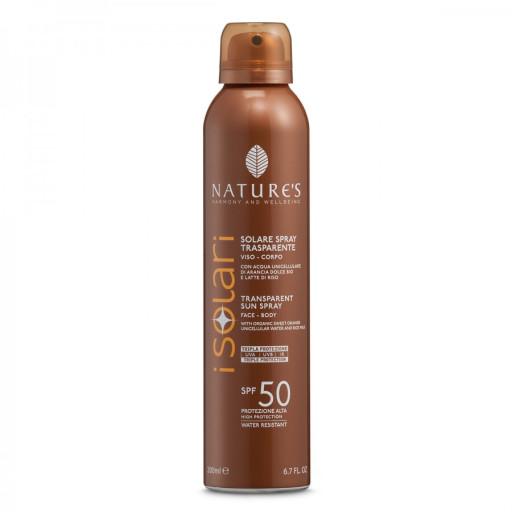 NATURE'S - Solare Spray Trasparente SPF 50 - Linea I Solari - 200ml