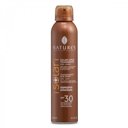 NATURE'S - Solare Spray Trasparente SPF 30 - Linea I Solari - 200ml