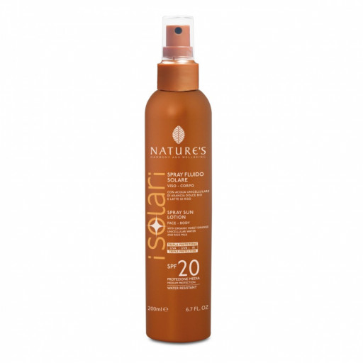 NATURE'S - Spray Solare Fluido SPF 20 - Linea I Solari - 200ml
