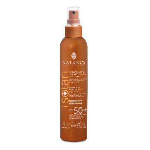 NATURE'S - Spray Solare Fluido BAMBINI spf 50+ - Linea I Solari - 200ml