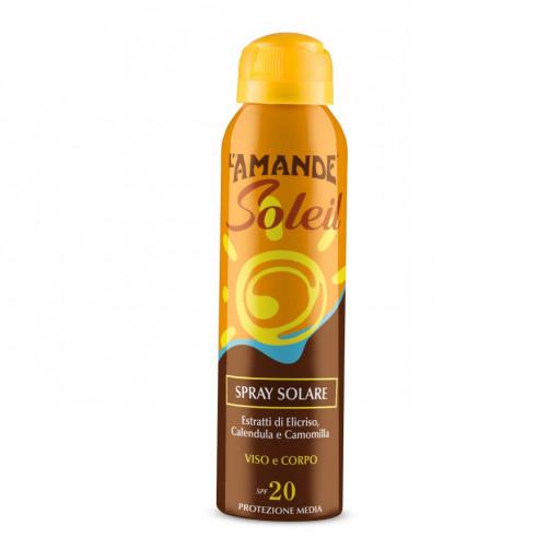 L'AMANDE - Spray Solare viso e corpo SPF 20 - Linea L'Amande Soleil - 150ml