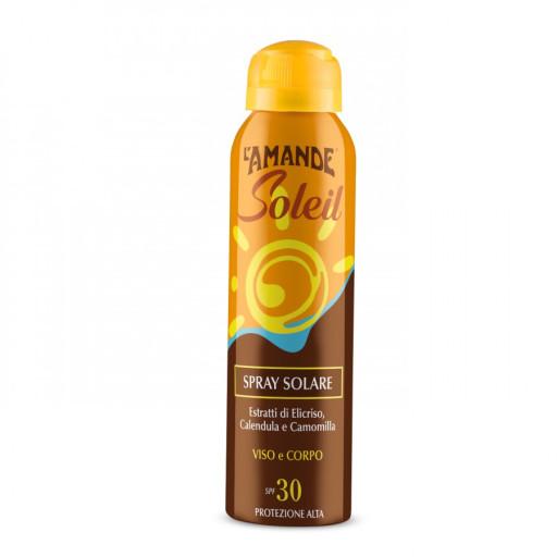 L'AMANDE - Spray Solare viso e corpo SPF 30 - Linea L'Amande Soleil - 150ml