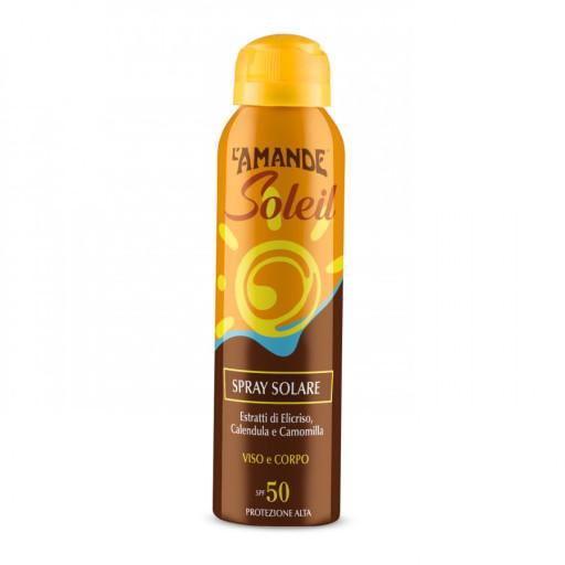 L'AMANDE - Spray Solare viso e corpo SPF 50 - Linea L'Amande Soleil - 150ml