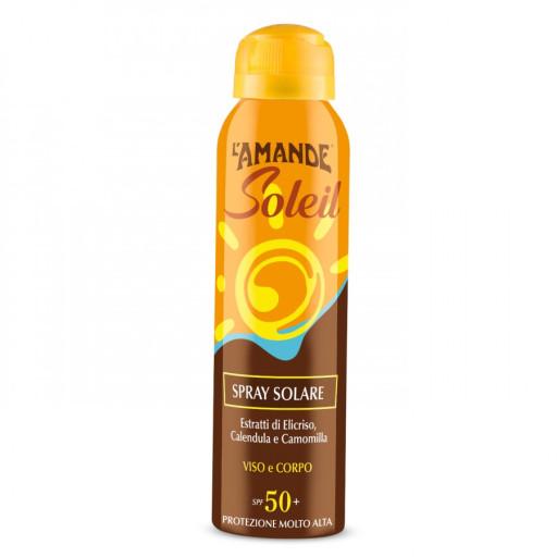 L'AMANDE - Spray Solare viso e corpo SPF 50+ - Linea L'Amande Soleil - 150ml