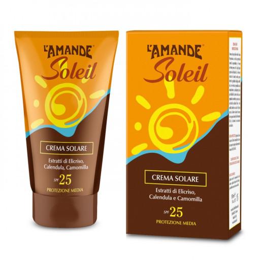 L'AMANDE - Crema Solare viso e corpo SPF 25 - Linea L'Amande Soleil - 125ml
