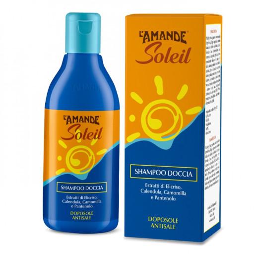 L'AMANDE - Shampoo Doccia Doposole Antisale - Linea L'Amande Soleil - 250ml