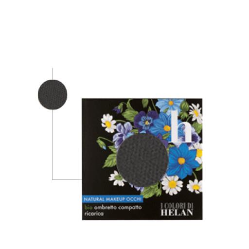 Bio Ombretto Compatto ricarica Nero - Linea I Colori di Helan
