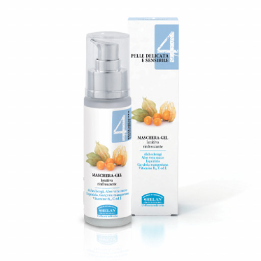HELAN - Maschera-gel Lenitiva Rinfrescante - Linea Viso 4 Pelle delicata e sensibile - 50ml