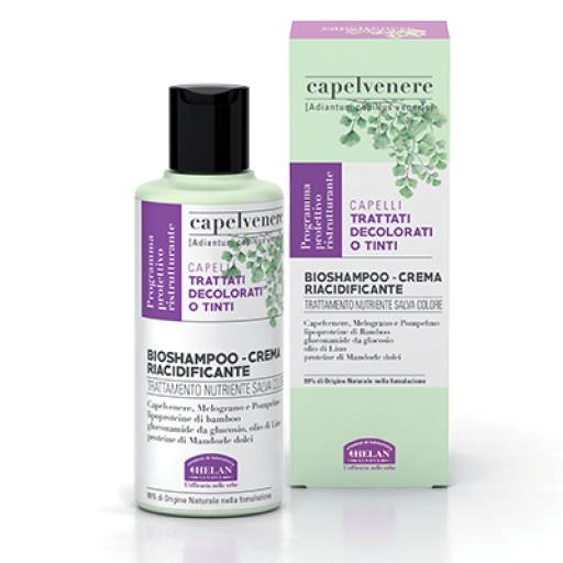HELAN - BioShampoo-Crema Riacidificante Salva Colore - Linea Capelvenere - 200ml