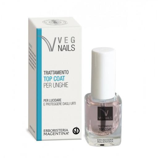 ERBORISTERIA MAGENTINA - Trattamento Top Coat per Unghie - Linea Veg Nails - 10ml