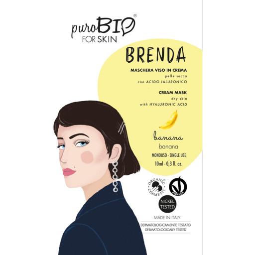 PUROBIO COSMETICS - BRENDA - Maschera viso bio in crema per pelli secche - n. 02 Banana