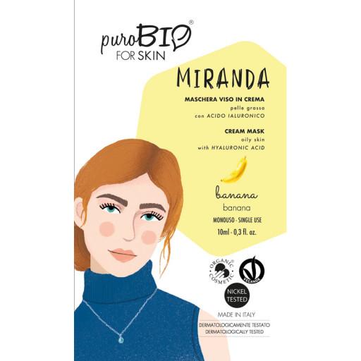 PUROBIO COSMETICS - MIRANDA - Maschera viso bio in crema per pelle grassa - n. 05 Banana
