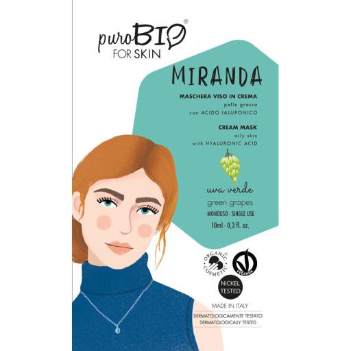 PUROBIO COSMETICS - MIRANDA - Maschera viso bio in crema per pelle grassa - n. 06 Uva Verde