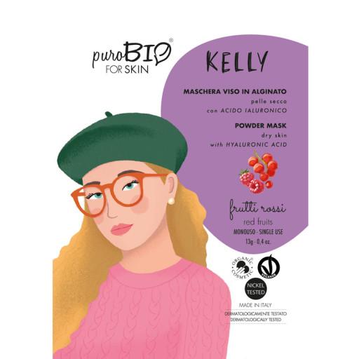 KELLY - Maschera viso bio peel off per pelle secca - n. 07 Frutti rossi