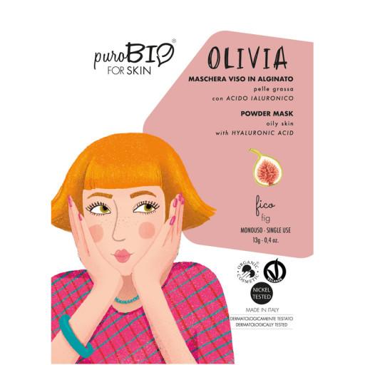 PUROBIO COSMETICS - OLIVIA- Maschera viso bio peel off per pelle grassa - n. 11 Fico