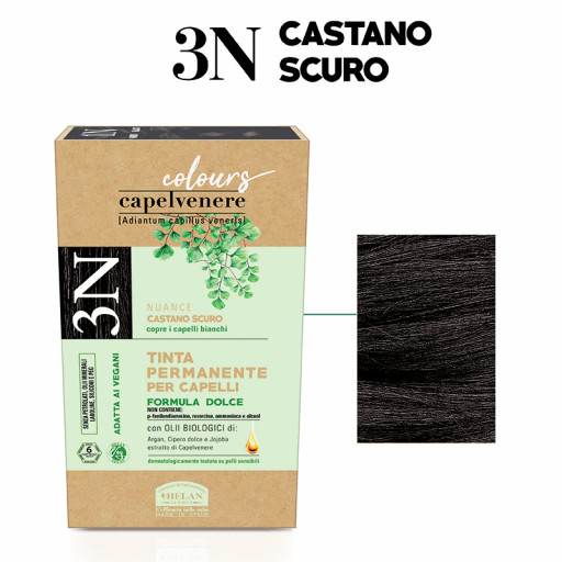 HELAN - Tinta Permanente per Capelli - nuance 3N Castano scuro