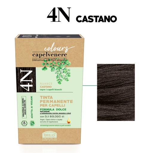 HELAN - Tinta Permanente per Capelli - nuance 4N Castano