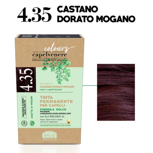 HELAN - Tinta Permanente per Capelli - nuance 4.35 Castano dorato mogano