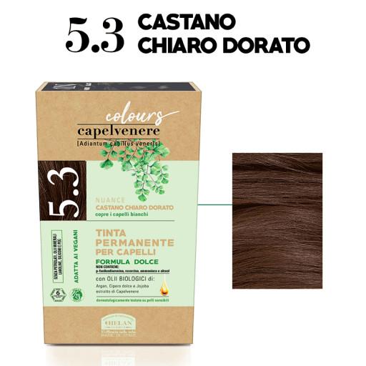 HELAN - Tinta Permanente per Capelli - nuance 5.3 Castano chiaro dorato
