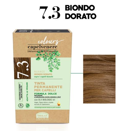 HELAN - Tinta Permanente per Capelli - nuance 7.3 Biondo dorato