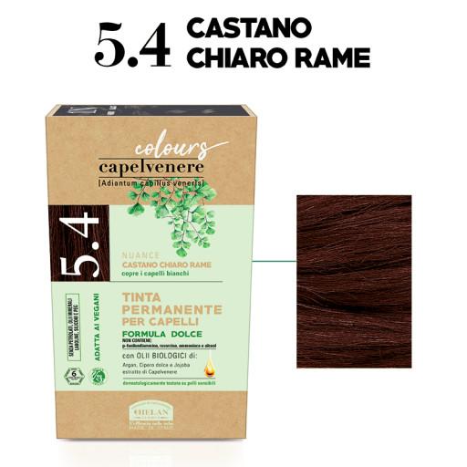 HELAN - Tinta Permanente per Capelli - nuance 5.4 Castano chiaro rame