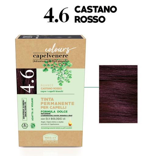 HELAN - Tinta Permanente per Capelli - nuance 4.6 Castano rosso