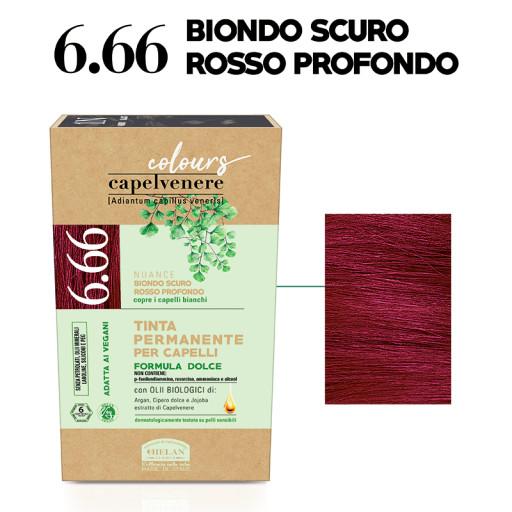HELAN - Tinta Permanente per Capelli - nuance 6.66 Biondo scuro rosso profondo