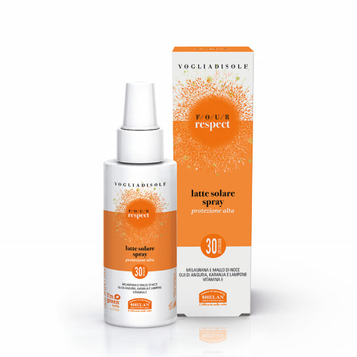 HELAN - Latte Solare Spray SPF 30 - Linea Voglia di Sole Four Respect - 100ml