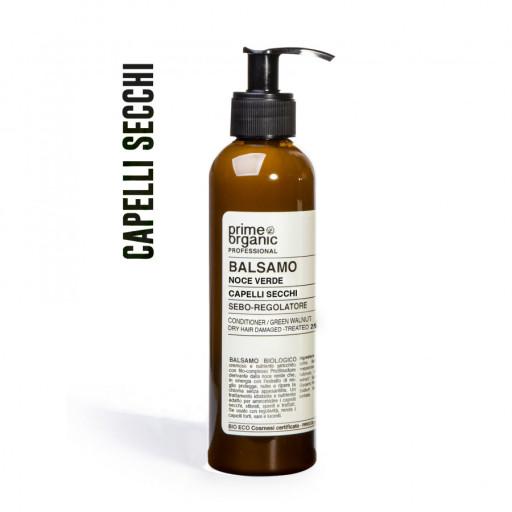 PRIME ORGANIC - Balsamo Noce Verde per capelli secchi - 250ml