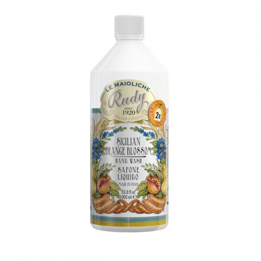 LE MAIOLICHE RUDY - Sicilian Orange Blossom - Ricarica sapone mani - 1l