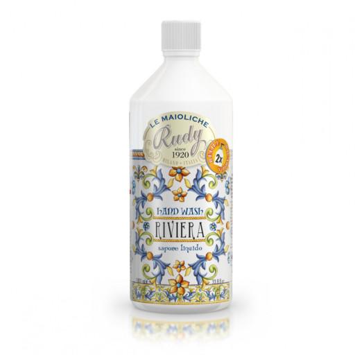 LE MAIOLICHE RUDY - Riviera - Ricarica saponi mani - 1 litro