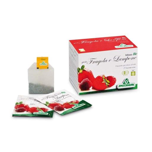 SPECCHIASOL - Fragola e Lampone - Infuso biologico - 20 bustine filtro