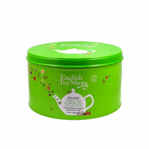 ENGLISH TEA SHOP - White & Green Tea Collection - 30 filtri piramidali