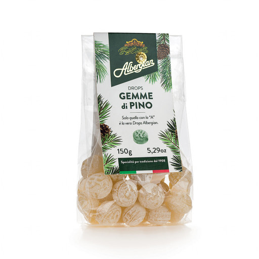 ALBERGIAN - Caramelle Drops alle Gemme di Pino - 200gr