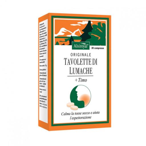 ALSIROYAL - Tavolette Originale Lumache + Timo - 30 tavolette masticabili