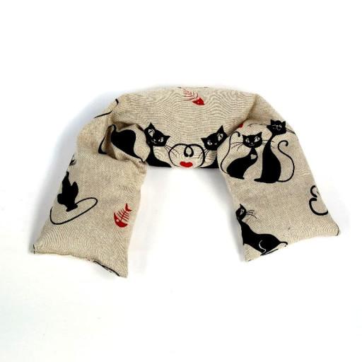 VITA dr. VEGNI - Cuscino a fascia con noccioli di ciliegia - fantasia Gattini innamorati