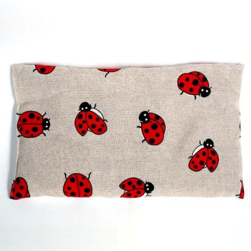 Cuscino piccolo con noccioli di ciliegia - fantasia Coccinelle
