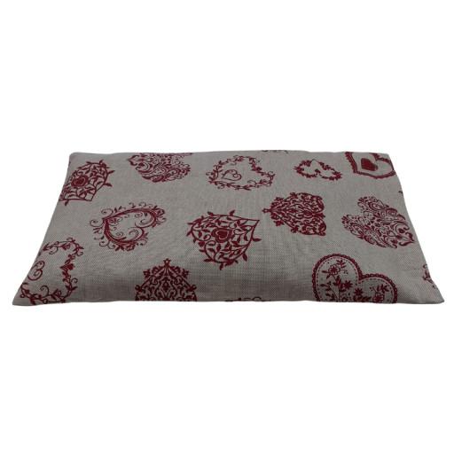 Cuscino piccolo con noccioli di ciliegia - fantasia Cuore tirolese