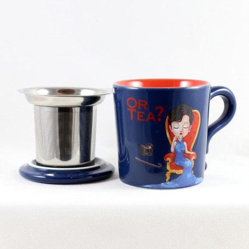 OR TEA? - Indigo Mug - Tazza con infusore