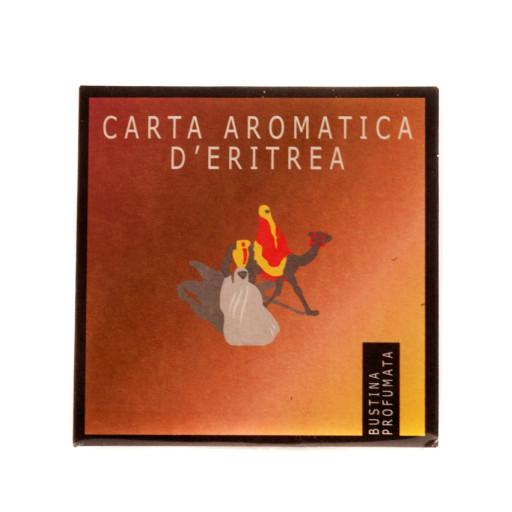 CARTE D'ERITREA - Bustina profumata per cassetti - Carta Aromatica d'Eritrea